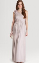 Nude A-line Ankle-length Silk Like Chiffon One Shoulder Ball Dresses (NZJT06194)