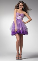 Lilac Princess Sweetheart Stretch Satin Short Ball Dresses (NZJT06378)