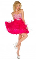 Red Chiffon Princess Sweetheart  Short School Ball Gowns(NZJT06414)