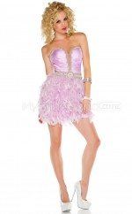 Candy Pink Stretch Satin Princess Sweetheart  Short School Ball Gowns(NZJT06431)