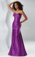 Satin Mermaid Sweetheart Sweep Train Grape Ball Dresses (NZJT06525)
