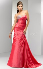 Watermelon Mermaid Sweetheart Taffeta Long Ball Dresses (NZJT06534)