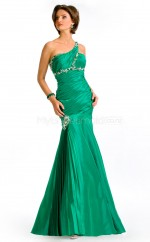 Mermaid One Shoulder Taffeta One Shoulder Ball Dresses (NZJT06550)