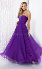 Chiffon A-line Sweetheart Sweep Train Regency Ball Dresses (NZJT06577)
