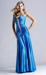 Strench Satin Sheath Strapless Floor-length Pool Ball Dresses (NZJT06591)