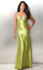 Sheath Straps Charmeuse Long Ball Dresses (NZJT06596)