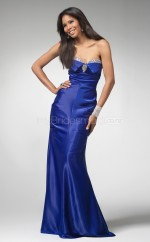 Satin Mermaid Sweetheart Sweep Train Ocean Blue Ball Dresses (NZJT06598)