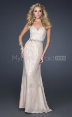 Champagne Mermaid Sweetheart Sequined Long Ball Dresses (NZJT06601)
