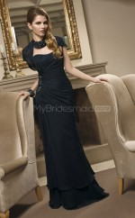 Chiffon A-line Sweetheart Sweep Train Black Ball Dresses (NZJT06629)