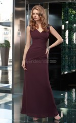 A-line V-neck Chiffon Long Ball Dresses (NZJT06657)