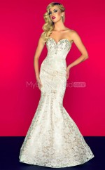 Ivory Mermaid Sweetheart Lace Long Ball Dresses (NZJT06679)