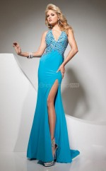Chiffon Mermaid Sweetheart Sweep Train Turquoise Ball Dresses (NZJT06761)