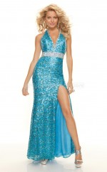 Sequined Mermaid Halter Floor-length Pool Ball Dresses (NZJT06776)