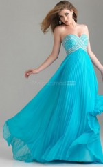 Chiffon A-line Sweetheart Sweep Train Pool Ball Dresses (NZJT06823)