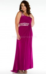 Long Straps Fuchsia Satin Chiffon Floor-length Bridesmaid Dress (NZPSD06-021)