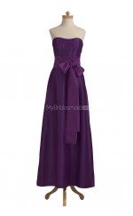 Luxurious Grape A Line Sweetheart Taffeta Long Bridesmaid Dresses (BSD043)