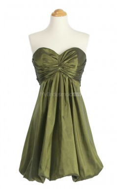 New Arrive Clover A Line Sweetheart Taffeta Bridesmaid Dresses (BSD153)