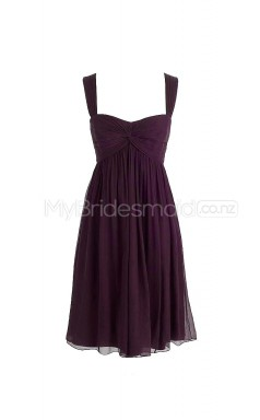 Custom Color A Line Short Bridesmaid Dress BSD259