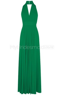 Custom Color Long Halter Bridesmaid Dresses BSD291