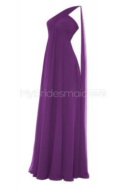 Custom Color Chiffon Long Bridesmaid Dresses BSD293