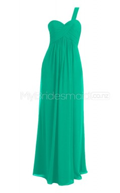 Custom Color Long One Shoulder Bridesmaid Dresses BSD301
