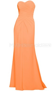 Custom Color Long Chiffon Bridesmaid Dress BSD352
