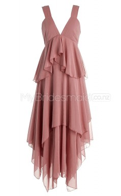 Custom Color Short V Neck Bridesmaid Dresses BSD356