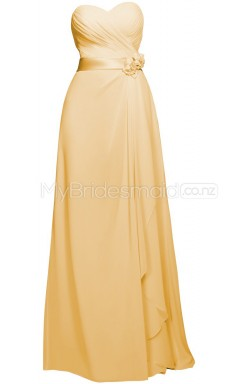 Custom Color Long Sweetheart Bridesmaid Dresses BSD361