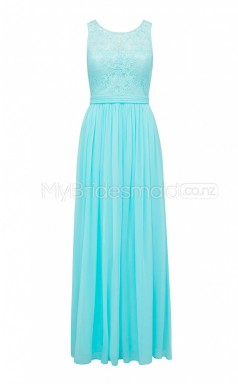Custom Color Long Chiffon , Lace Bridesmaid Dress BSD387