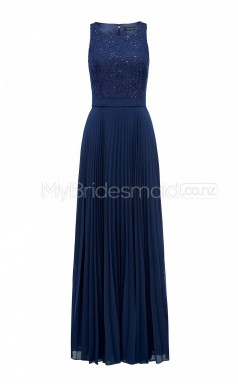 Custom Color Chiffon , Lace Long Bridesmaid Dresses BSD388