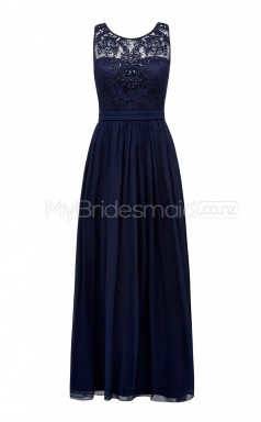 Custom Color Long Jewel Bridesmaid Dresses BSD391