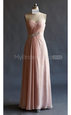 Custom Color A Line Long Bridesmaid Dress BSD399