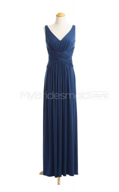Custom Color A Line Long Bridesmaid Dress BSD409