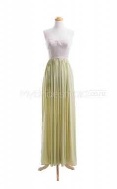 Custom Color Long Chiffon Bridesmaid Dress BSD412