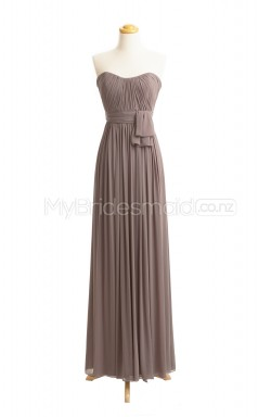 Custom Color Chiffon Long Bridesmaid Dresses BSD413