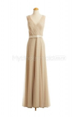 Custom Color Long Chiffon Bridesmaid Dress BSD417