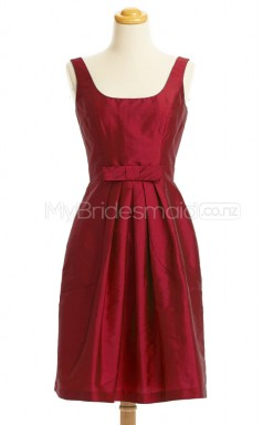 Custom Color A Line Short Bridesmaid Dress BSD424