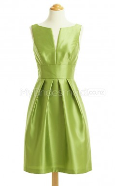 Custom Color Short Stretch Satin Bridesmaid Dress BSD427