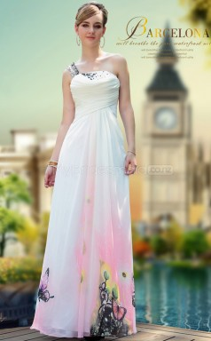 A-line One Shoulder Long Dress for Party(GZNZ30641)