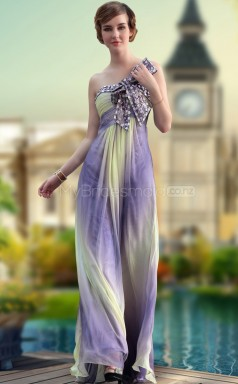Multicolour Strapless Long Dress for Prom (GZNZ30645)