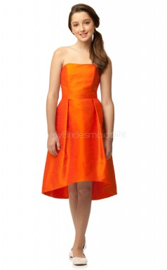 Orange Knee-length Princess Taffeta Junior Bridesmaid Dress (NZJBD06-023)