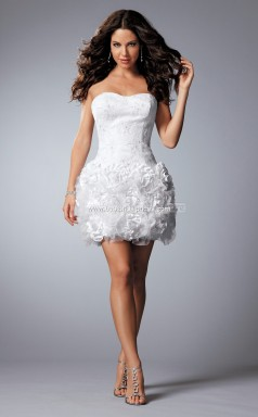 Organza Princess Sweetheart Neckline Short White Ball Dresses (NZJT06007)