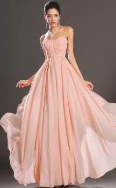 Adult Chiffon Pearl Pink Long Bridesmaid Dress NZJT061422