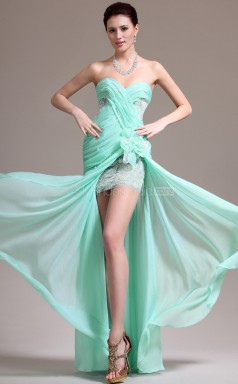 Chiffon Mermaid Sweetheart Floor-length Light Green 81 Ball Dresses (NZJT06799)